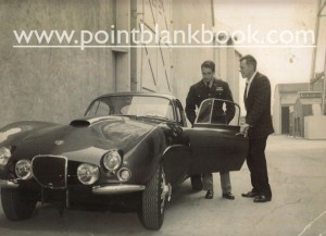 Here's a rarely seen photo from 1956. On the studio lot while filming The Rack, Lee Marvin proudly shows off his new Bristol sportscar to his very impressed costar, Paul Newman.