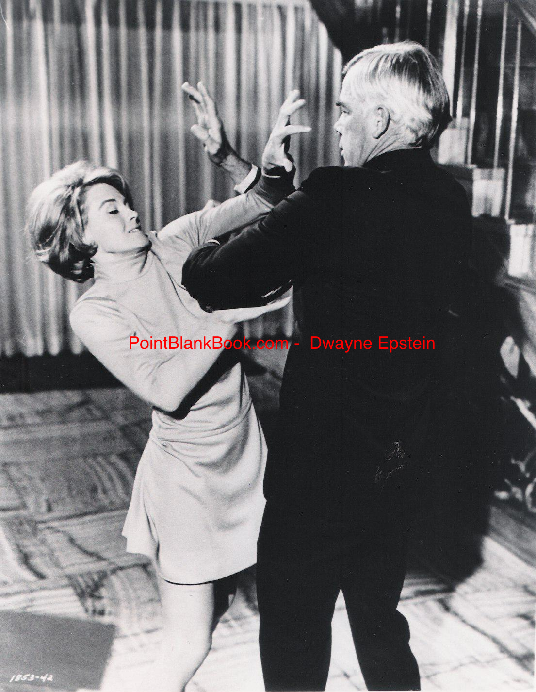 In POINT BLANK, Angie Dickinson actually drew blood from Lee Marvin, who of course, never said a word about it.