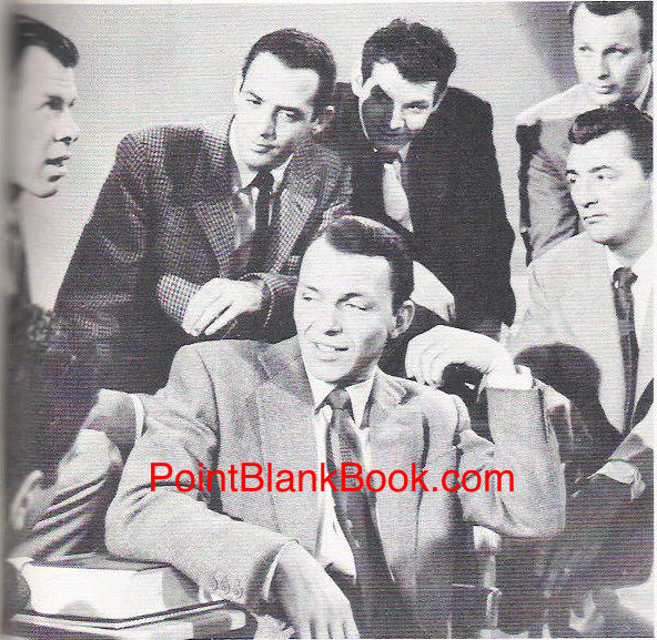 Lee Marvin (far left) sets his fellow students straight, including Sinatra (center) future director Jerry Paris (next to Marvin) and a disgusted Robert Mitchum.