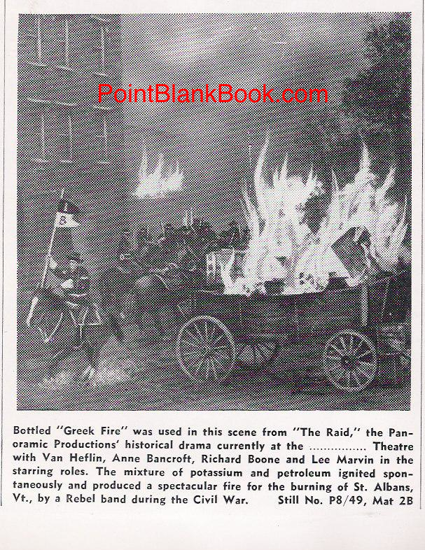 "The ""Greek Fire"" depicted in the film that the pressbook touted for its historical accuracy."