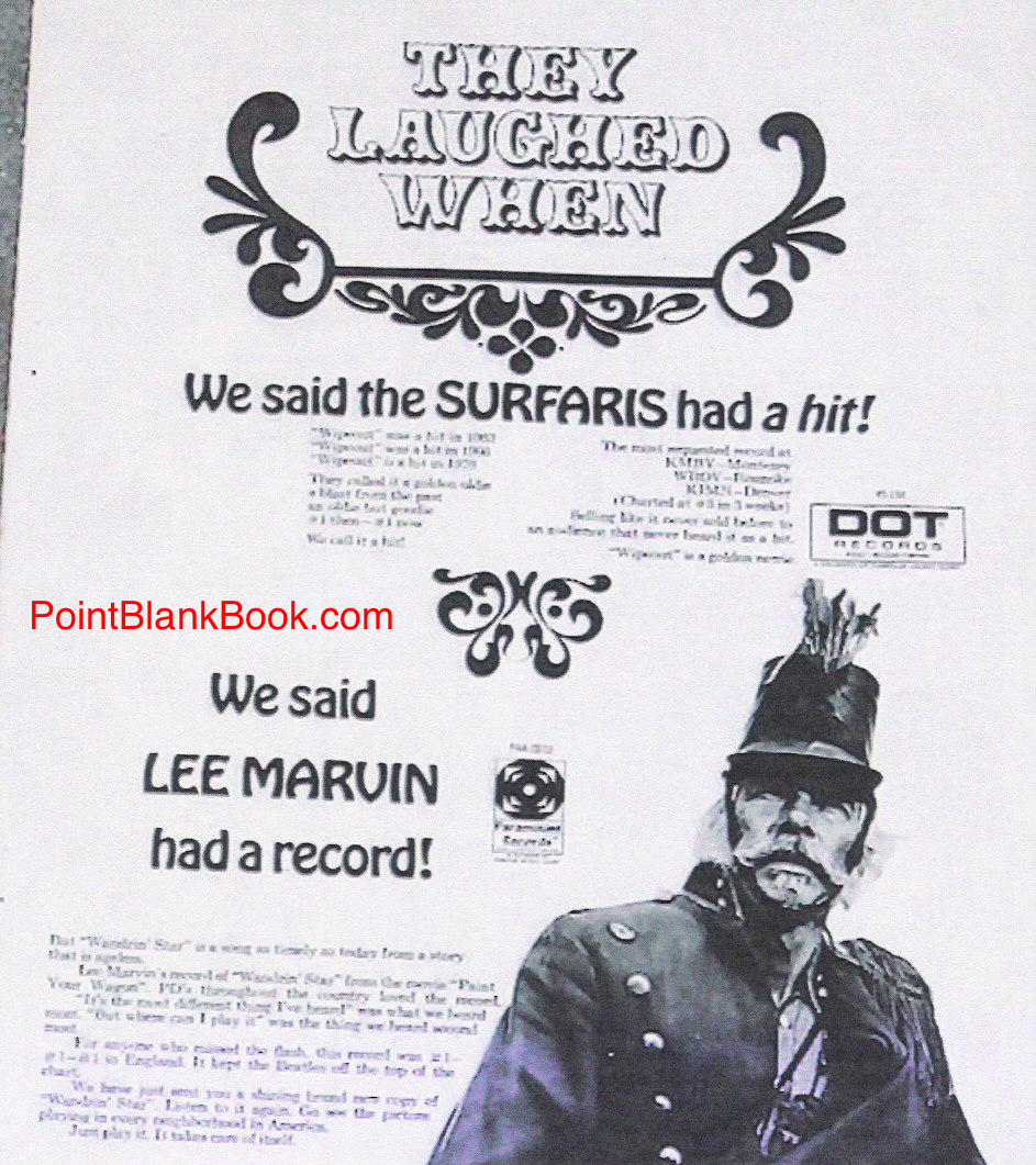 Billboard Magazine ad touting Marvin's successful release of his singel of Wandern' Star.