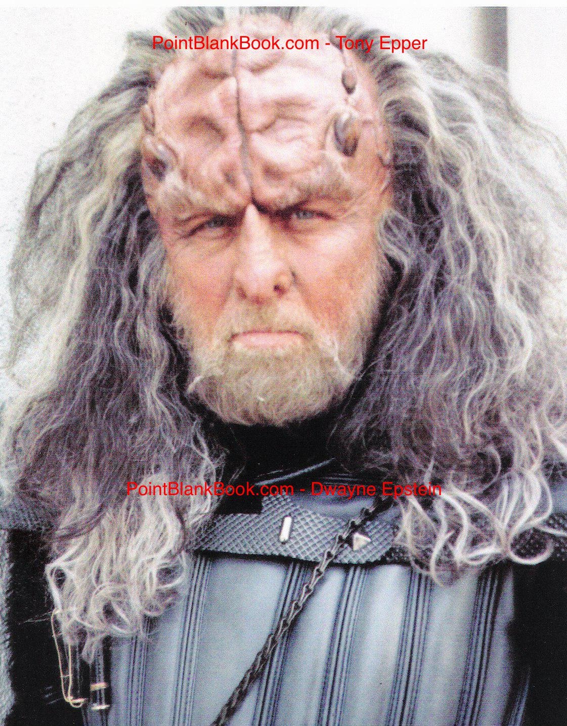 Epper as a drunken Klingon in Star Trek: Deep Space Nine
