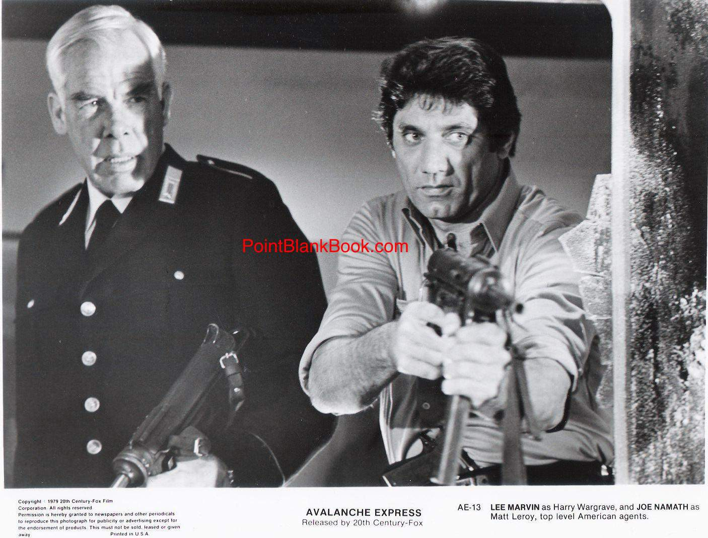 Lee Marvin & 'Broadway' Joe Namath in AVALANCHE EXPRESS