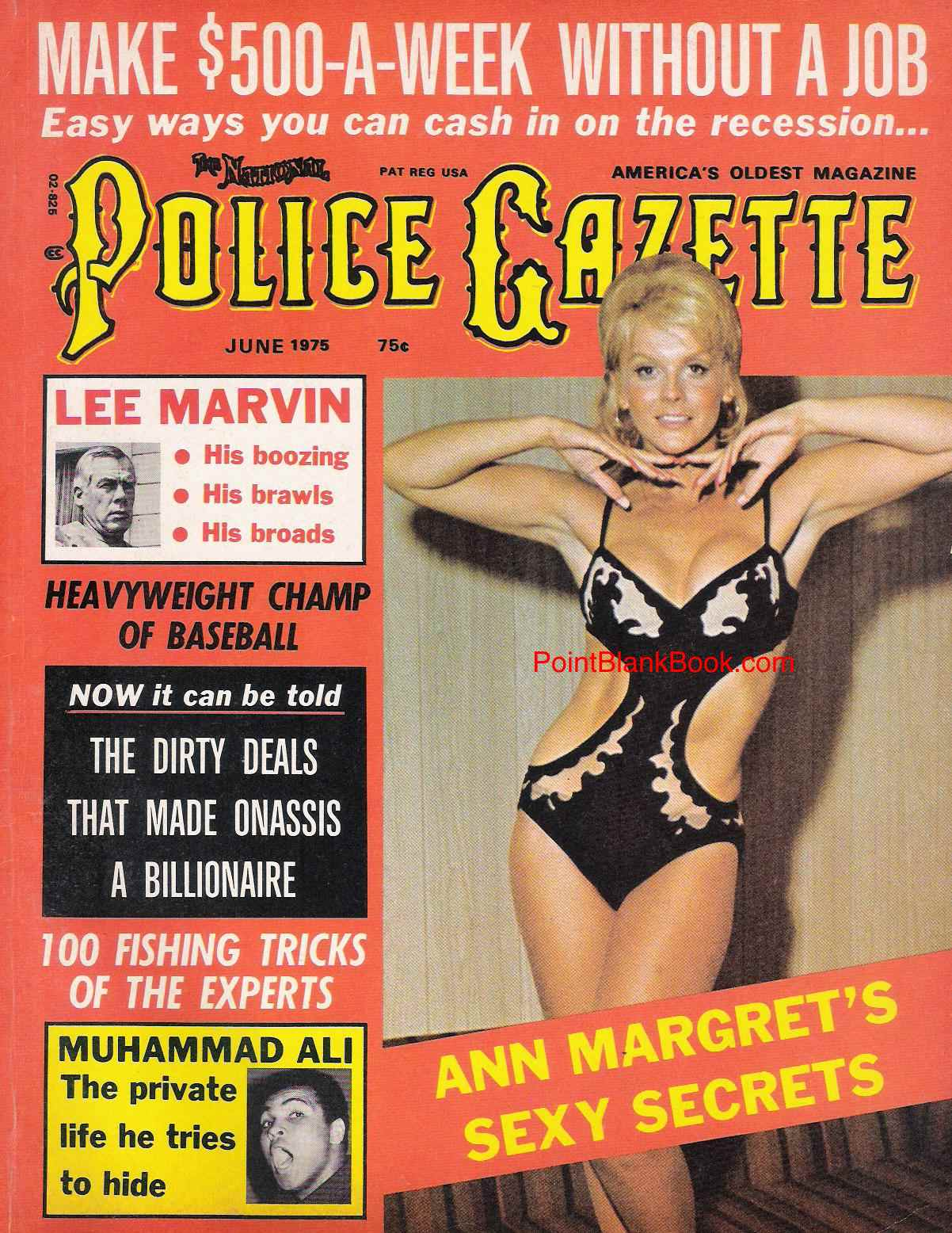 June 1975 cover of Police Gazette featuring Lee Marvin.