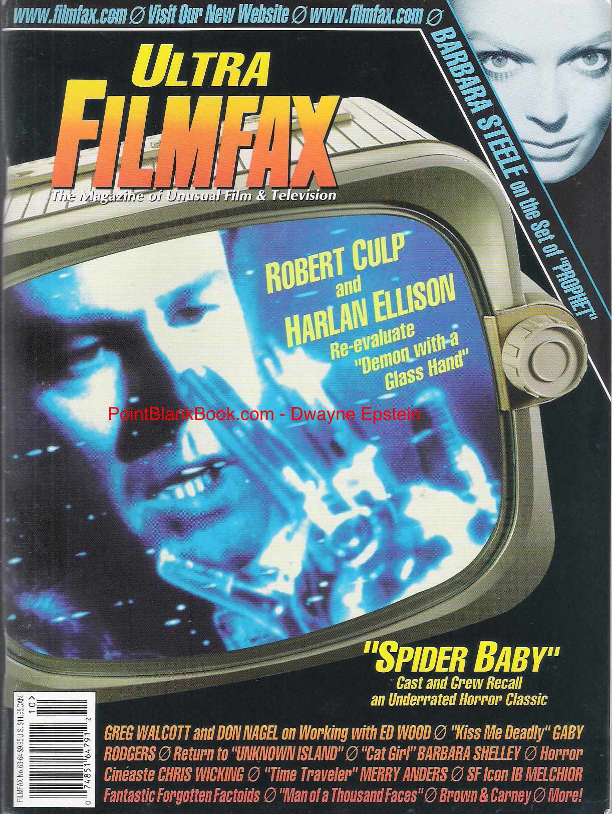 Cover of Filmfax featuring my Gregory Walcott inteview.