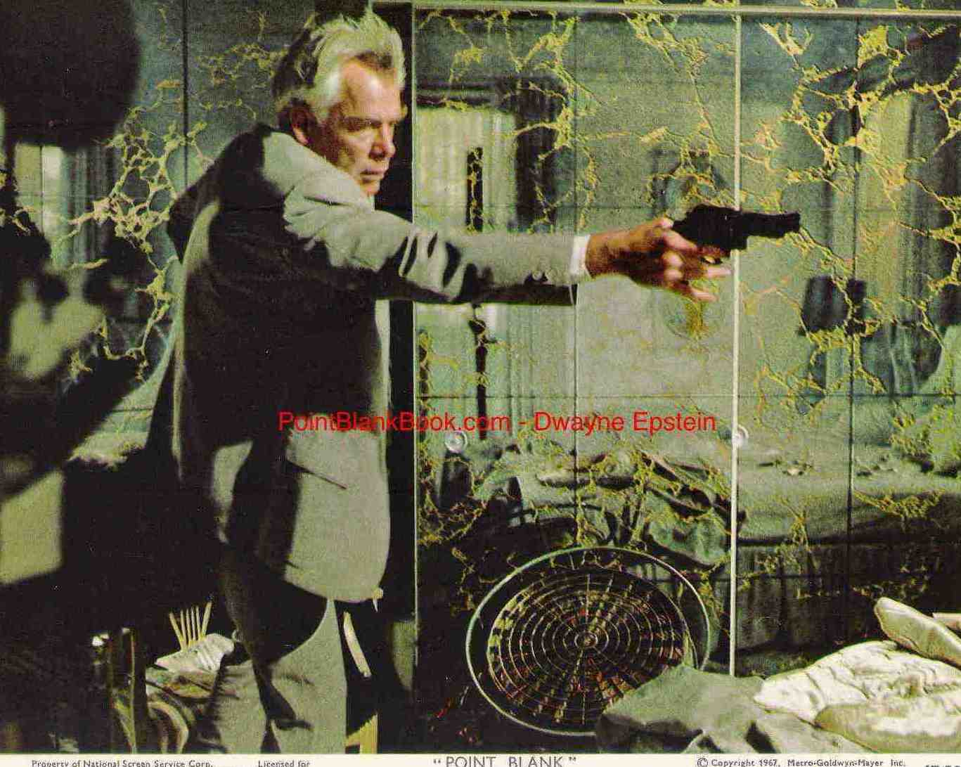 Lobby card from Point Blank showing why it was called the first Arthouse action film.