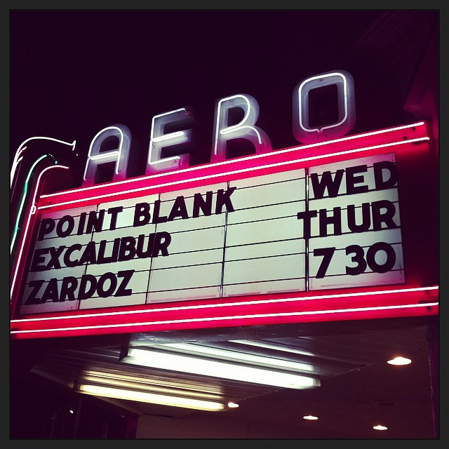 The Aero Theatre Marquee in Santa Monica last night