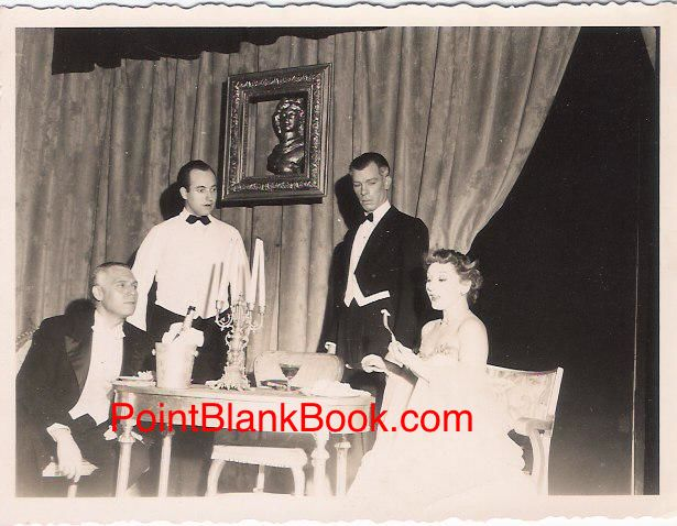 Not a lost scene from Downton Abbey but an early performance of Lee Marvin (center) on stage after the war at Woodstock's Maverick Theater.