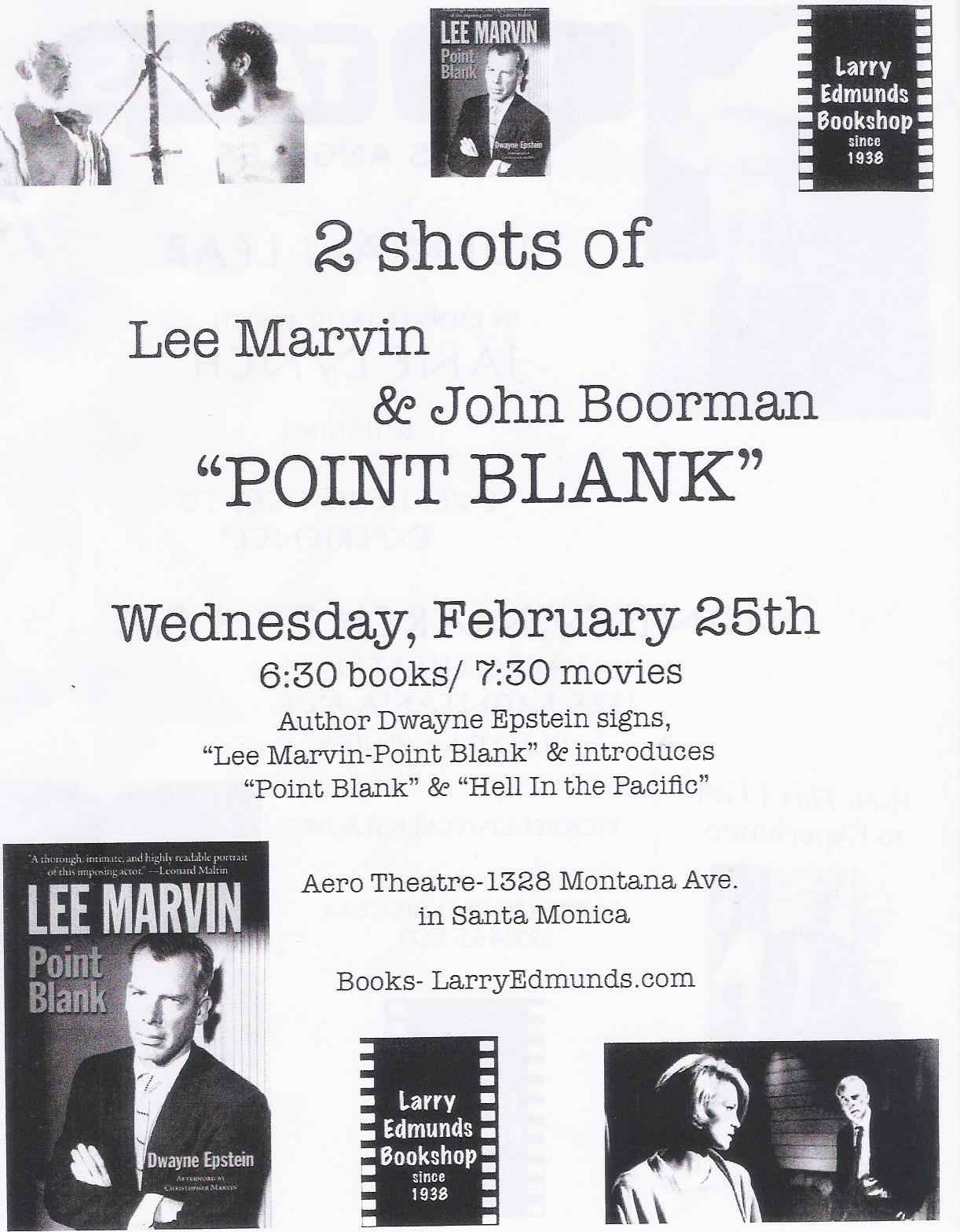 Flyer done up by Larry Edmunds' for last night's screening.