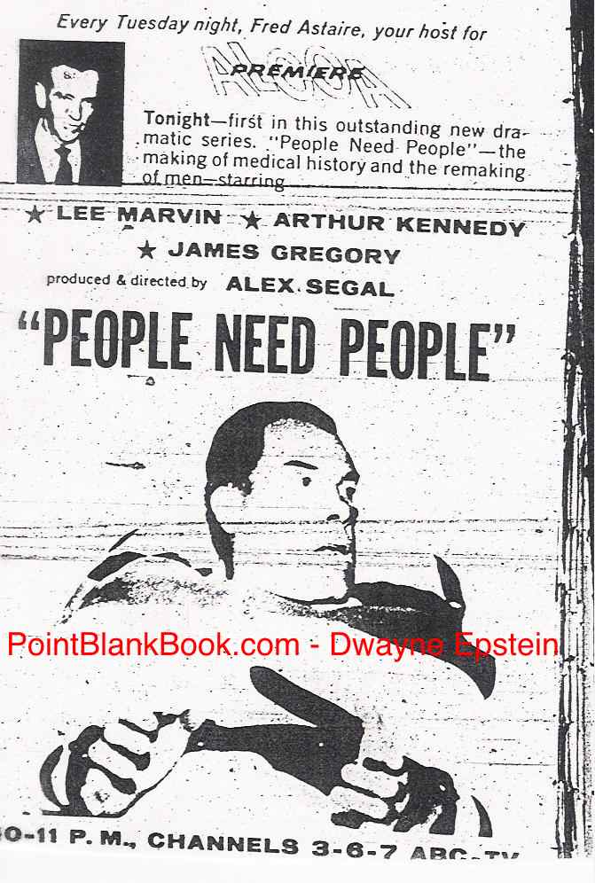 Orignal ad from TV Guide the night People Need People aired in 1962.