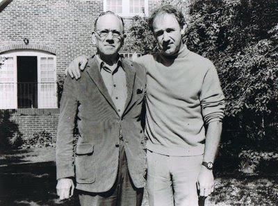 Portraying father and son, Melvyn Douglas (left) and Gene Hackman in 1971's I Never Sang For My Father, looking eerily similar to the photo of Lee and Monte Marvin
