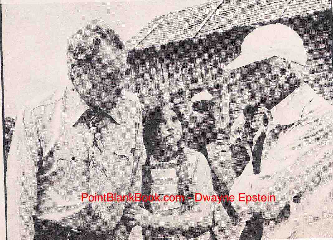 (L-R) Lee Marvin, stepdaughter Kerry, and director Richard Fleischer on the set of Spikes Gang in Almeria, Spain.