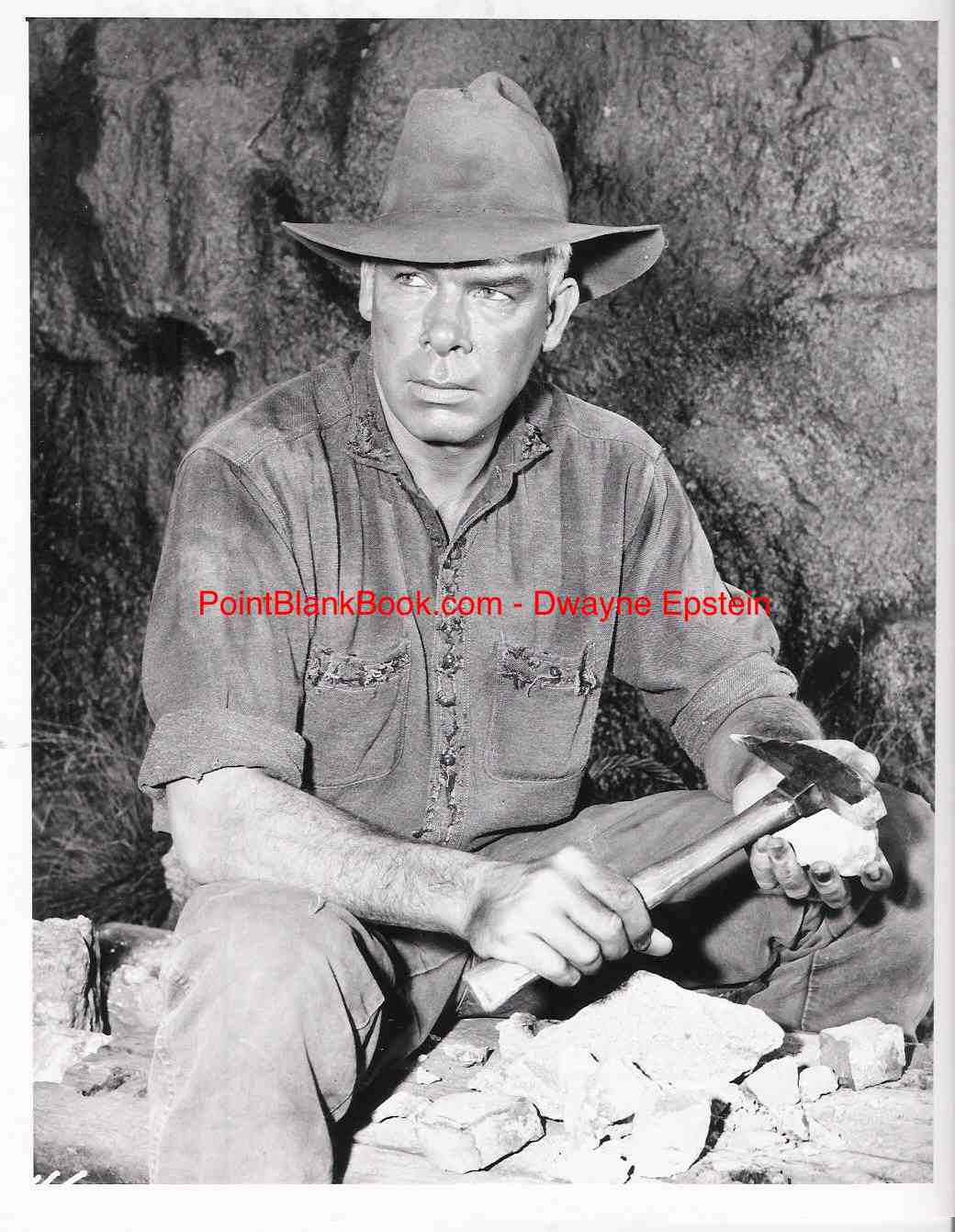 Lee Marvin as the deranged miner who terrorizes Pernell Roberts in the 1962 episode of Bonanza entitled The Crucible.