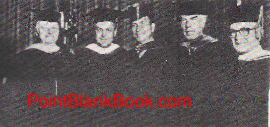 Lee Marvin. second from right, posing with other St. Leo degree reciepents, lncluding then Sec. of Defense, Melvin Laird, second from left.