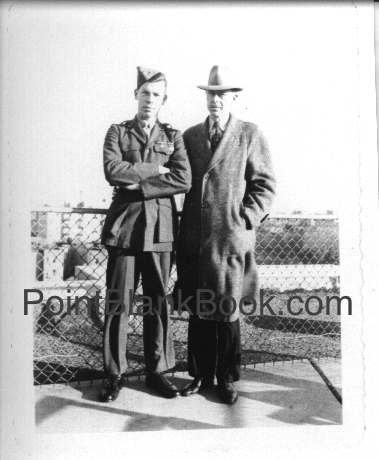Lee (L) and Monte (R) Marvin shortly after Lee joined the USMC in 1942.