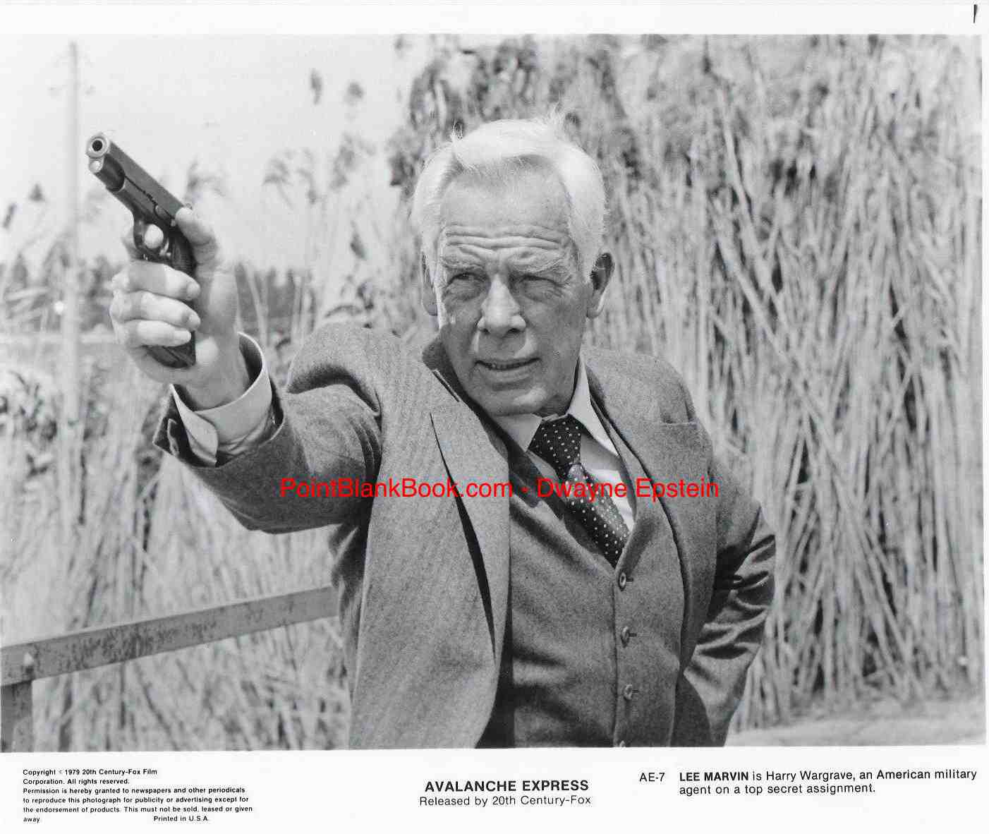 Lee Marvin in Avalanche Express, around the time he met Bruce Davison.