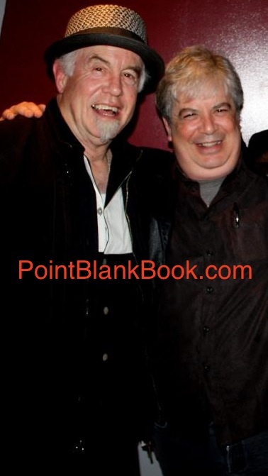 The author of Lee Marvin: Point Blank (right) with Christopher Marvin enjoying a laugh at the American Cinematheque screening of Point Blank & The Killers in 2013.