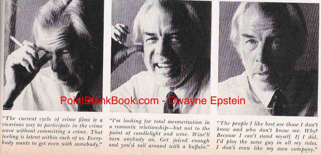 Shown growing his beard for Paint Your Wagon, Lee Marvin in the famous three pix of Playboy's interview format.