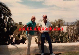 Christopher (right) with his father in the 1970s outside his father's Tucson home.