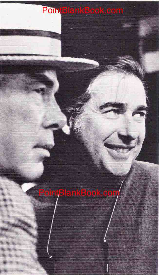 Director John Frankenheimer (left) with Lee Marvin on the set of The Iceman Cometh (1973).