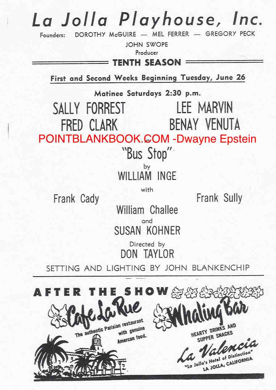 Program playbill highlighting the veteran cast.