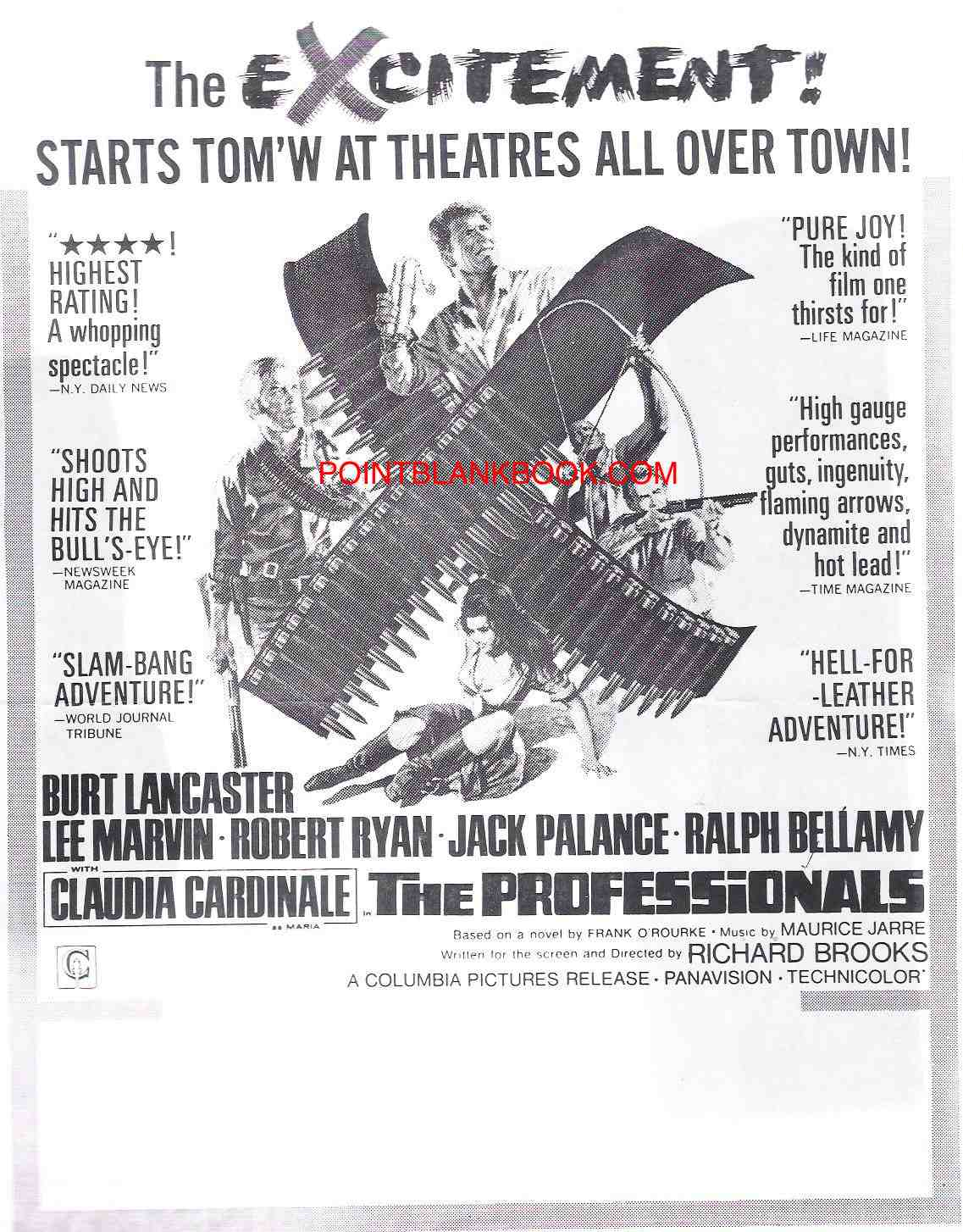 Original print ad from the film's pressbook highlighting the film's critical response.