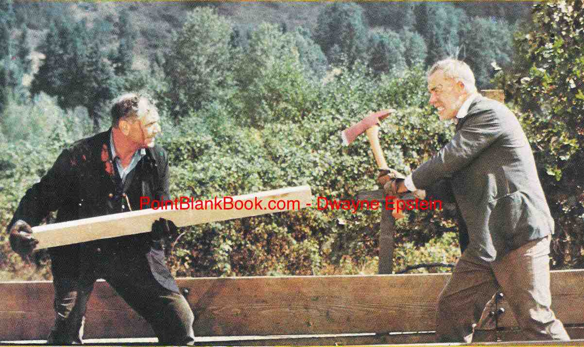 The famous fight scene at the climax of Emperor of the North that was aptly described by cinematographer Joe Biroc in Lee Marvin: Point Blank.