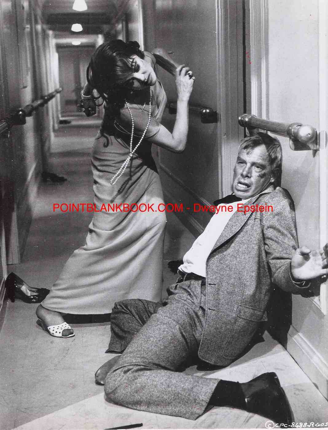 The climatic 'shoe fight' in SHIP OF FOOLS in which Vivien Leigh beats Lee Marvin for misaking her for a prostitute. Marvin kept the shoe as a treasured memento.