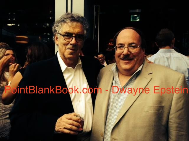 A photo of Alex Ben Block (right) with iconic 70s actor and personal favorite, Elliot Gould, at a recent Hollywood function.