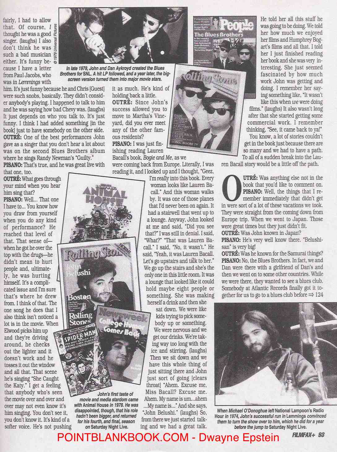 Judy Belushi Filmfax interview, Page 6