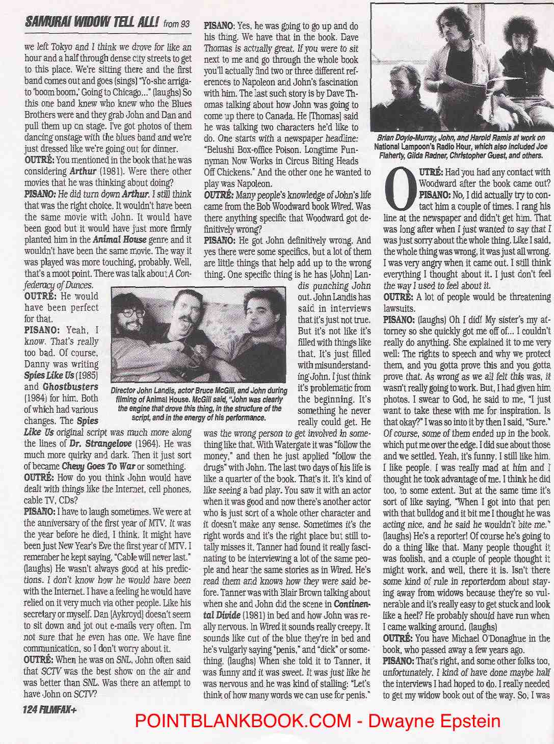 Judy Belushi Filmfax interview, Page 7