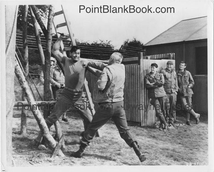Clint Walker's Posey lunges at Lee Marvin's Col. Reisman but he and the audience or in for a big surprise.