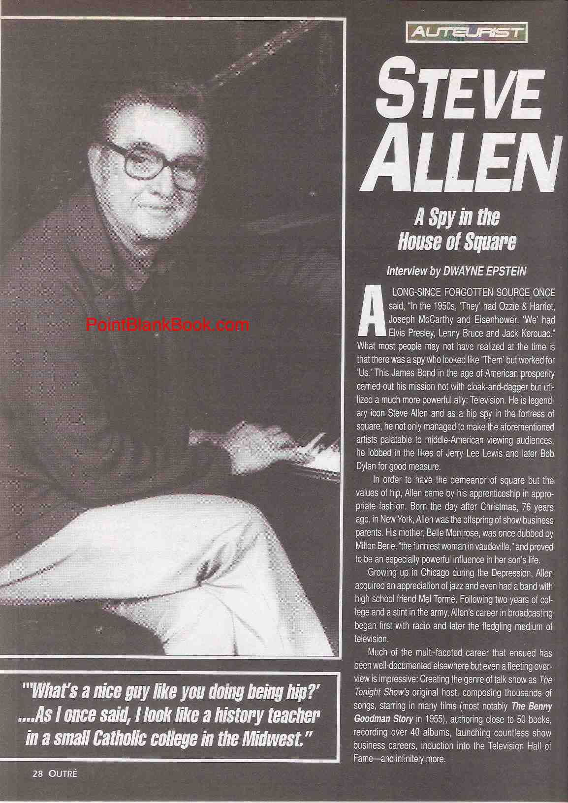 Steve Allen interview, page 1