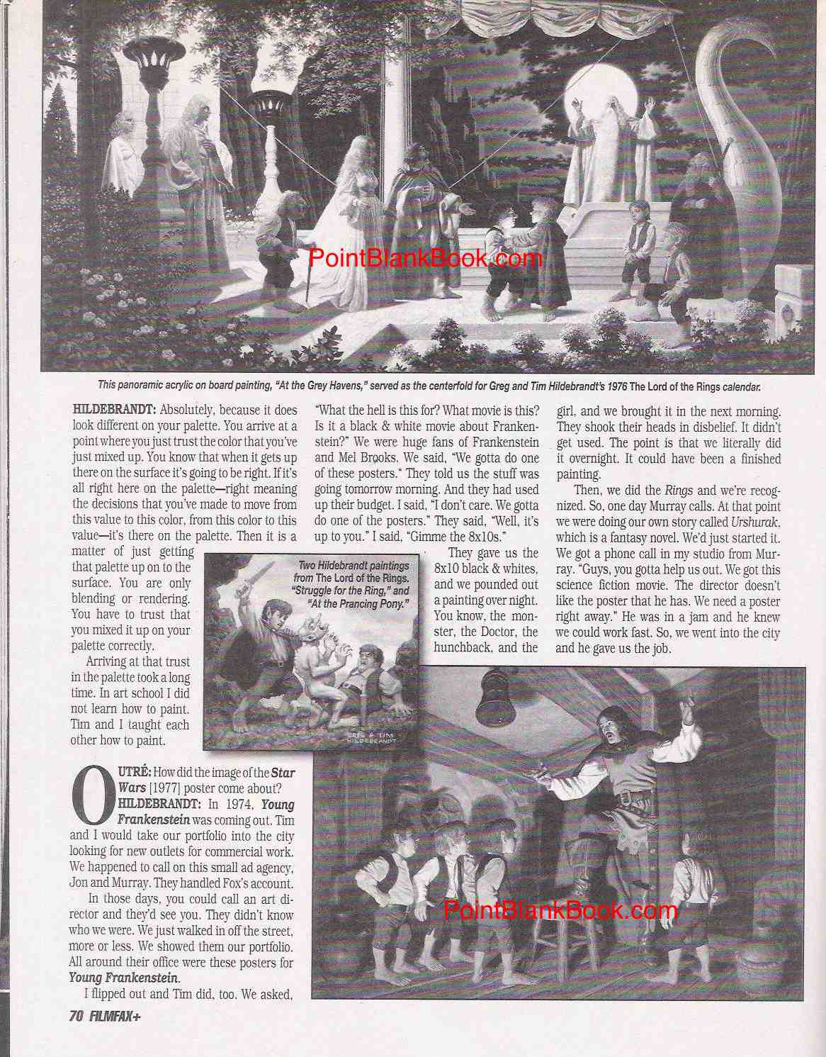 Page 5 of Filmfax Greg Hildebrandt interview, Pt. 2