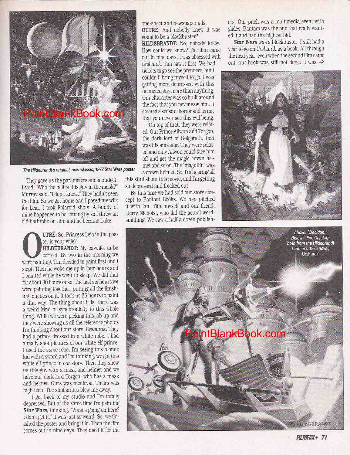 Page 6 of Filmfax Greg Hildebrandt interview, Pt. 2