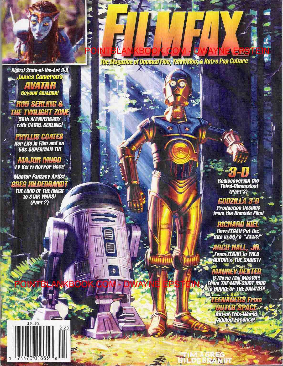Cover of Filmfax Greg Hildebrandt interview, Pt. 2.