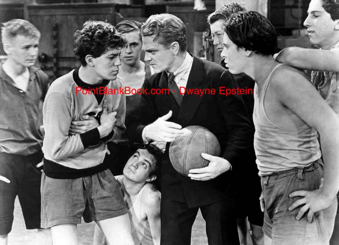 James Cagney (center) shows the Dead End Kids how to play basketball.....or else!