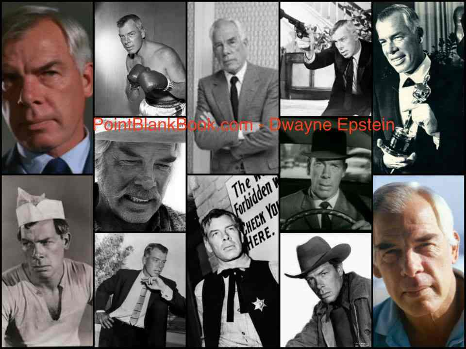 A montage of images of Lee Marvin, on film, TV and in life.