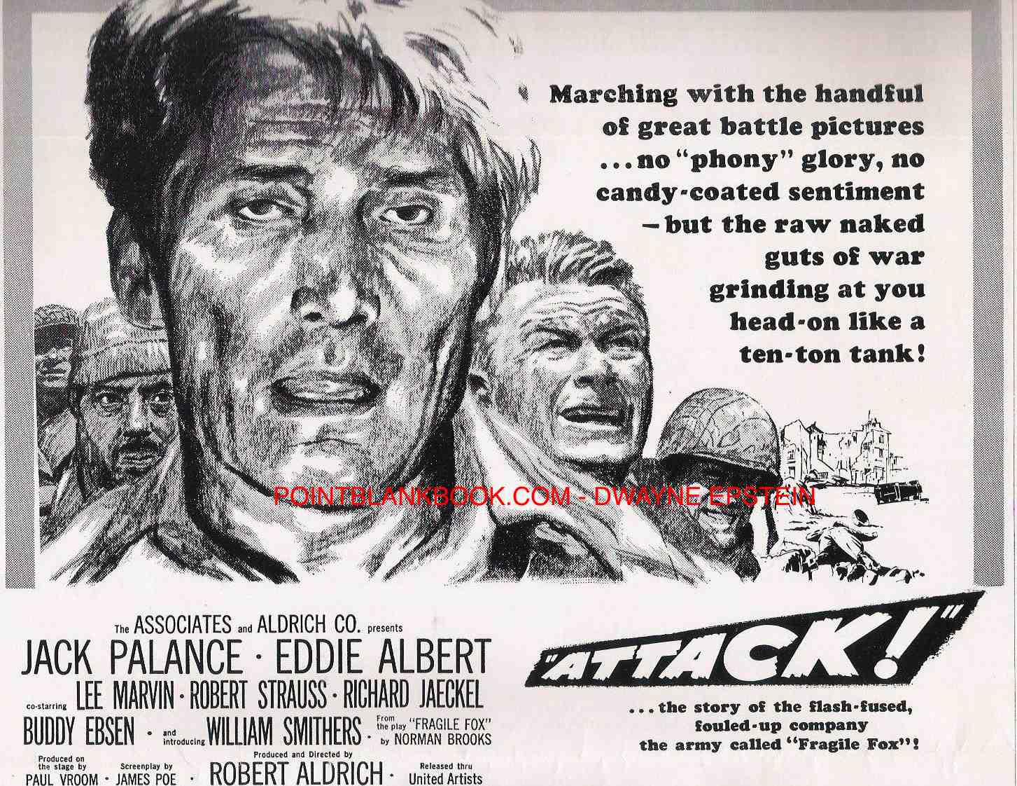 The tag lines aside, the powerful artwork spoke volumes for the film ATTACK!