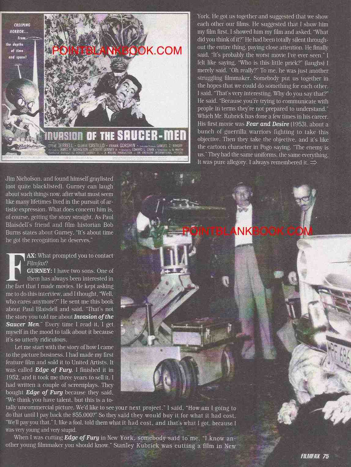 Robert Gurney Filmfax interview, page 2.