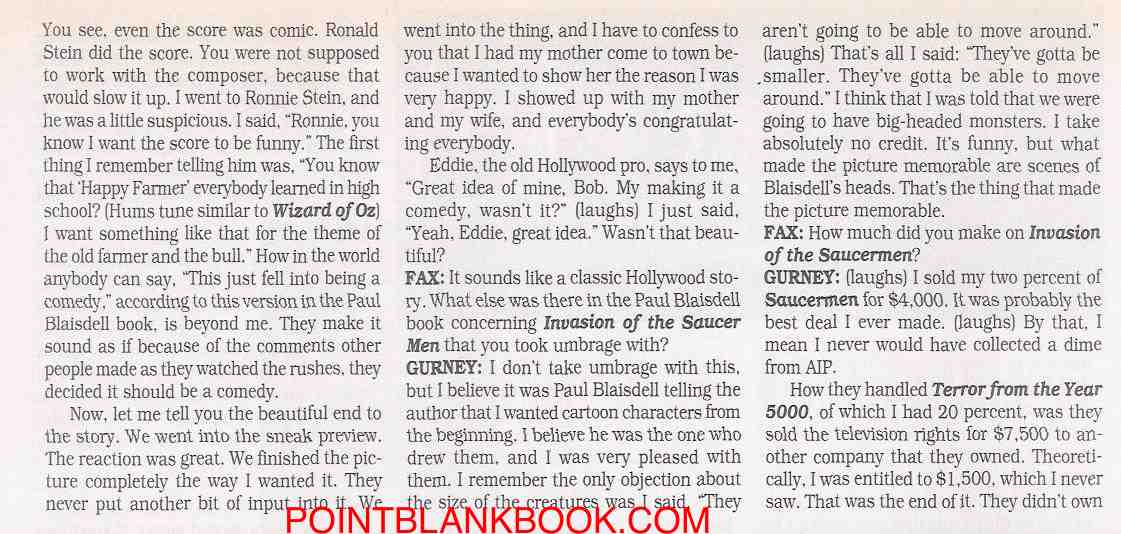 Robert Gurney Filmfax interview, page 7.