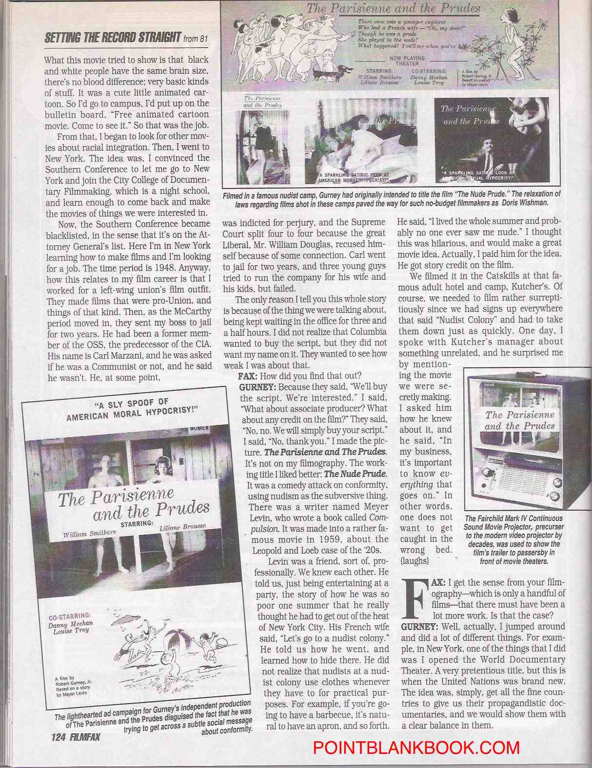 Robert Gurney Filmfax interview, page 9.