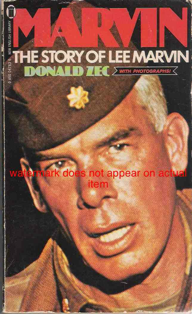 Cover of the British paperback biography of Lee Marvin by Donald Zec.