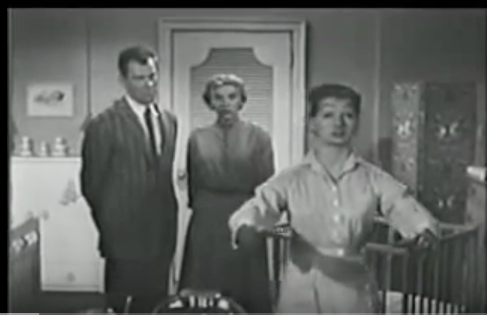 Lee Marvin (left) Joanne Davis (center) and The Psychophonic Nurse played by Effie Larid.