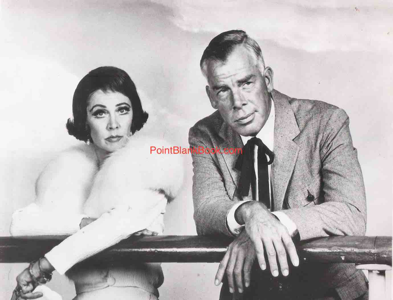Lee Marvin on the railing with costar Vivien Leigh in what would be her last film.