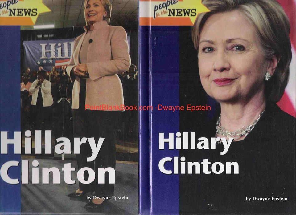 The covers of my Hillary Clinton young adult biographies, the 1st in 2008 (left) and the revised version in 2010.