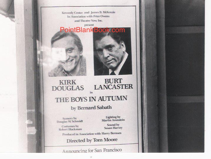 "The theatre marquee in San Francisco for the short-run of ""The Boys in Autumn."""