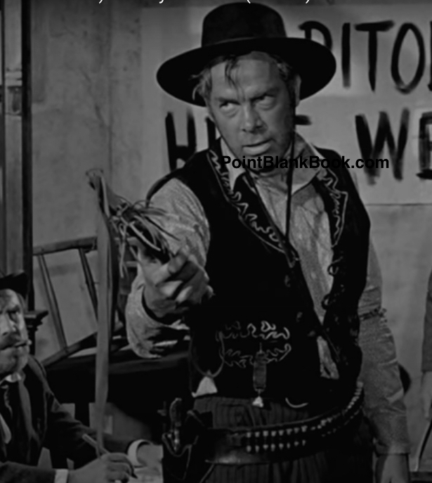 Lee Marvin as Liberty Valance & Edmond O'Brien as Dutton Peabody.
